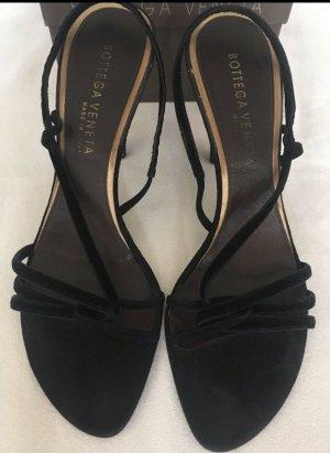 Bottega Veneta Sandalen met bandjes en hoge hakken zwart Fluweel