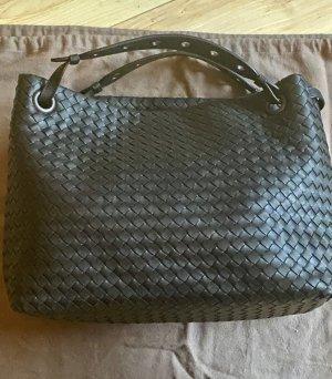 Bottega Veneta Shoulder Bag black leather
