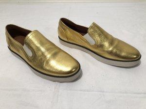 Bottega Veneta Sneaker aus goldenem Leder Gr.38,5