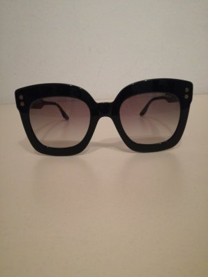 Bottega Veneta Occhiale da sole spigoloso nero-talpa