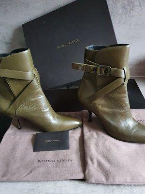 Bottega Veneta Wciągane buty za kostkę oliwkowy