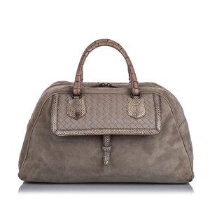 Bottega Veneta Suede Bowler Bag