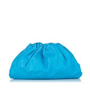 Bottega Veneta Bolso de mano azul Cuero