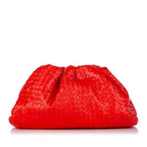 Bottega Veneta Bolso de mano rojo Cuero