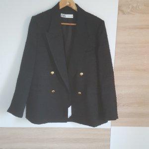 Zara Blazer in tweed nero-oro