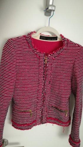 Zara Blazer Tweed multicolor Algodón
