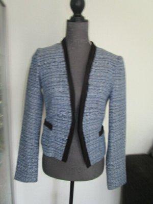 H&M Tweed blazer veelkleurig Gemengd weefsel