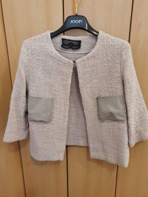 Blazer en tweed beige clair