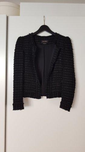 Massimo Dutti Tweed Blazer black