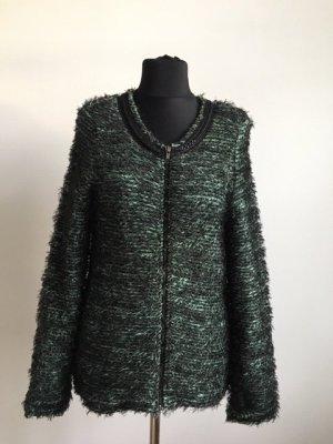 Maison Scotch Veste en laine noir-vert coton