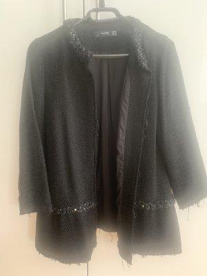 Hallhuber Blazer en tweed noir