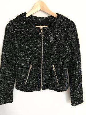 Boucle Jacke schwarz Gina Tricot