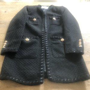 Capsule Wełniany płaszcz czarny