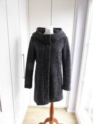 Only Manteau à capuche noir-gris foncé laine