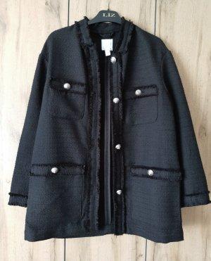 hm-moden Oversized jack zwart Katoen