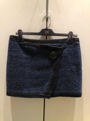 Naf naf Jupe en tweed noir-bleu foncé