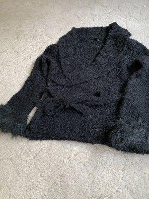 H.E. Mango Coarse Knitted Jacket black