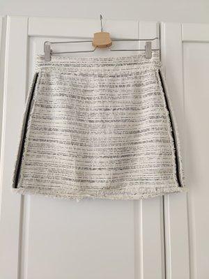 Zara Tweedowa spódnica ciemnoszary-w kolorze białej wełny
