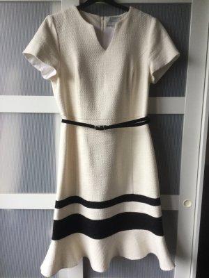 promiss Vestido de lana blanco puro-negro