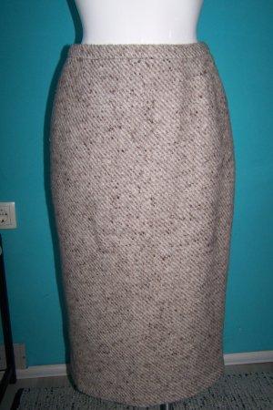 Falda de lana blanco puro-beige
