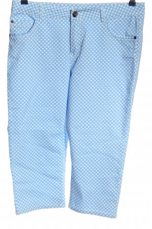 Boule 3/4 Length Trousers blue-white allover print casual look