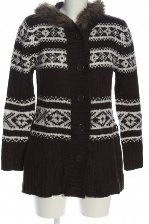 Boule Cardigan brown-white graphic pattern casual look