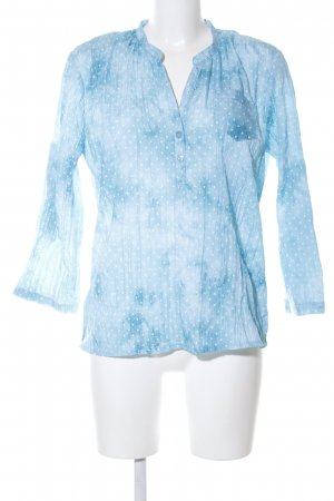 Boule Blusa estilo Crash azul-blanco degradado de color look casual