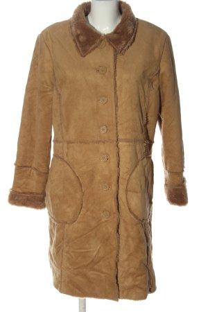 Boule Fake Fur Coat nude casual look