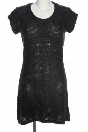 Boule Sweater Dress black cable stitch casual look
