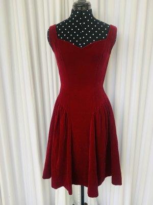 Bourleske Red Velvet! Orginal 60ties Samtkleid