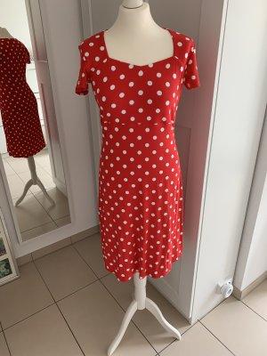 Boutique Kleid mit weißen Punkten Gr. 36