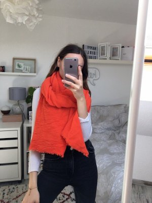 Boutique Mode Oversized Riffelschal Orange Neon