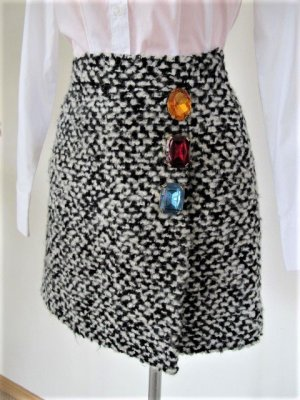 Boutique Moschino Boucle Wickelrock Größe 34 / XS NP 339,- €
