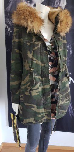 Boutique MOSCHINO camouflage parka teddy fell small hoher npr