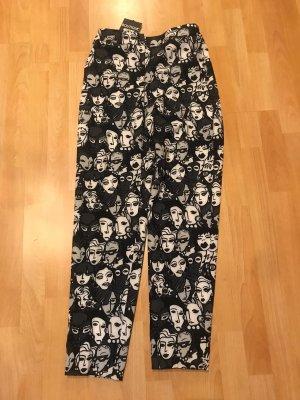 Boutique Moschino Drainpipe Trousers white-black
