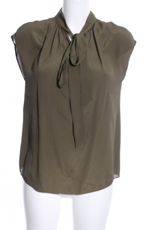 Boutique Moschino Kurzarm-Bluse khaki Business-Look