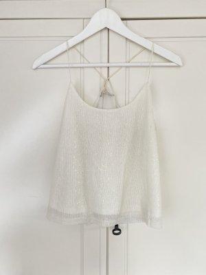 Boutique Mouwloze blouse wit
