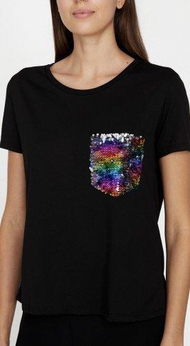 Boutique T-Shirt mit Pailletten S