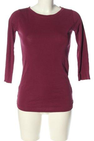 Boviva Koszulka z długim rękawem czerwony W stylu casual
