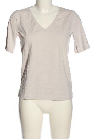Boviva Koszulka z dekoltem w kształcie litery V jasnoszary W stylu casual