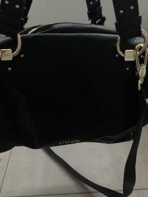 Liu jo Bowling Bag black-gold-colored leather