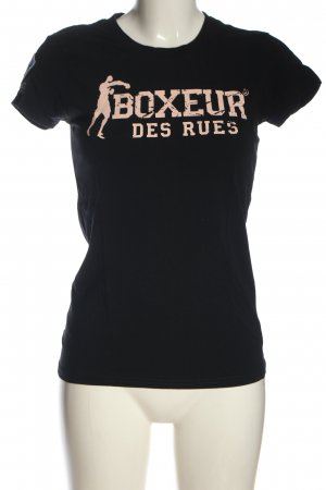Boxeur des Rues T-Shirt black-pink printed lettering casual look