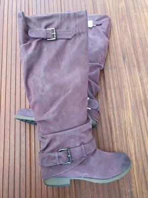 BOXX Langschaftstiefel - Damen Stiefel Gr. 39 lila - NEU