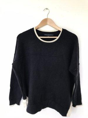 French Connection Sweter z dzianiny ciemnoniebieski-w kolorze białej wełny
