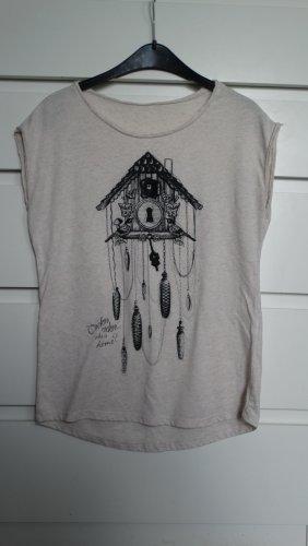 Boxy Shirt mit Vogelhäuschenmotiv