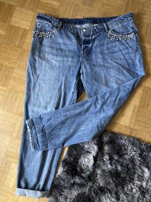 H&M Jeans boyfriend bleuet