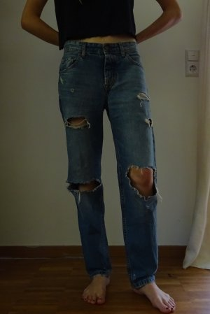 Pull & Bear Baggy Jeans blue cotton