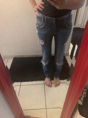 Amisu Boyfriend Jeans dark blue