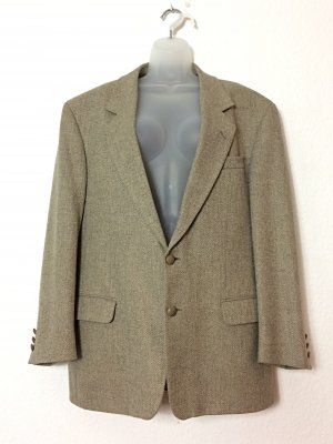 Boyfriend Blazer Alexanders of Scotland beige oversize Gr. 46 Vintage Schurwolle