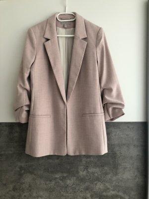 H&M Basic Blazer boyfriend rose-rose clair